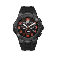 CAT Navigo Chrono series watch in stainless steel with black band plus free gift
