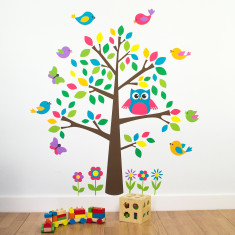 Children's Tree With Birds Wall Sticker