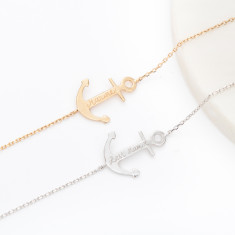 Personalised Anchor Chain Bracelet