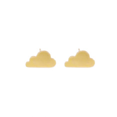 Gold cloud earrings in gift tin