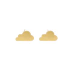 Gold cloud earrings in gift tin