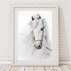 Watercolour Horse Print