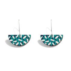 Tropics drop earrings in aqua, navy and white
