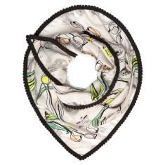 Light scarf with printed tulip design