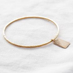 Personalised Tiny Tag Engraved Bangle