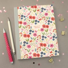 Personalised Flower Pattern Notebook