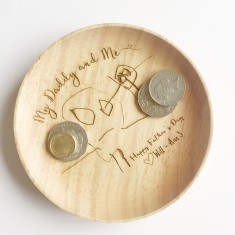 Personalised Father's Day Coin Tray - Featuring your child's drawing