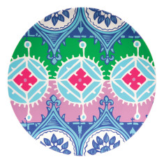 French Bull round platter in florentine pattern