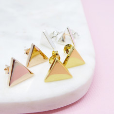 Large Triangle Studs (Various Colours)