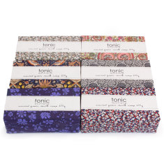 Six Liberty wrapped soap bars (assorted designs)