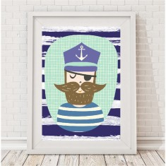 The Captain nautical print