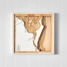 Wooden 3D Contour Map of Fraser Island
