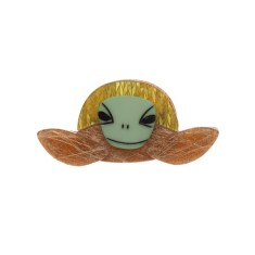 Erstwilder Stu the surfin' sea turtle brooch