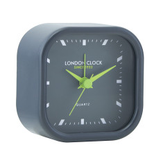 London Clock Company Bang Silent Alarm Clock In Black
