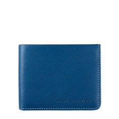Alfred leather wallet in blue