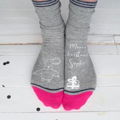 Merry Christmouse Cheese Socks