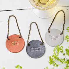 Personalised Metallic Bottle Tag