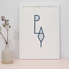 Play limited edition screenprint