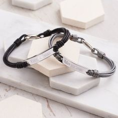 Personalised Ladies' Nappa Leather Identity Bracelet