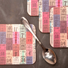 Tickets, Buttons and Measures Coasters