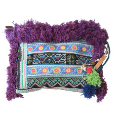 Martini clutch in purple ocean