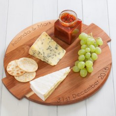 Personalised Master Class Acacia Wood Lazy Susan