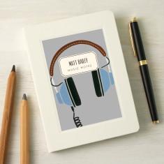 Personalised Headphones Notebook