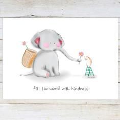 Kind Elephant Art Print