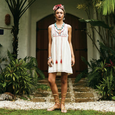 La Paloma embroidered shift dress