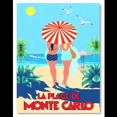 La Plage Monte Carlo canvas