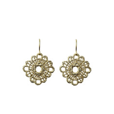 Lace doily earrings (gold)