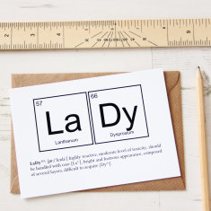 Elements of a Lady Card