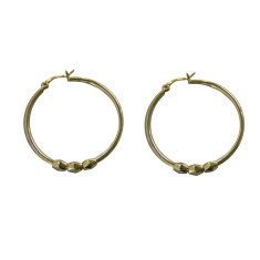 Penelope hoop earrings in yellow gold