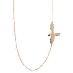Asymmetric seagull necklace