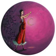 La fille et la lune pocket mirror