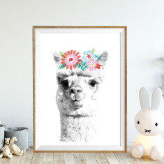 Lady llama art print (various sizes)