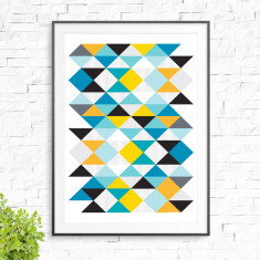 Triangle magic print