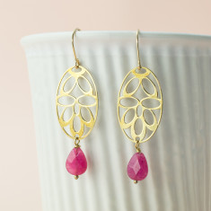 Pink deco earrings