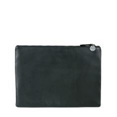 Black lambskin clutch