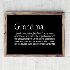 Grandmother dictionary print