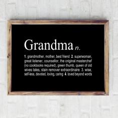 Grandmother dictionary print