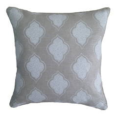 White lanterns linen cushion