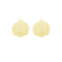 Large filigree gold earrings