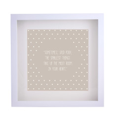 Pooh quote framed print