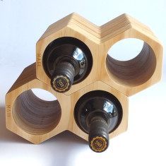 Large honeycomb wine holder