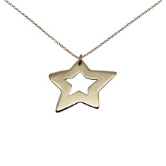 Star 9K gold necklace