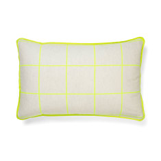 Lattice neon lime standard pillowcase