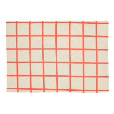 Lattice placemats in neon coral (pack of 4)