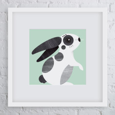 Nibbles rabbit art print
