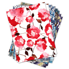 Mixed pack of wrapping paper (8 sheets)